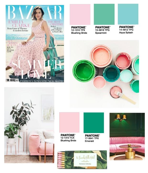 Pink Green and Aqua
