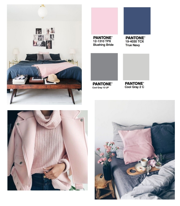 Pink Grey and Navy